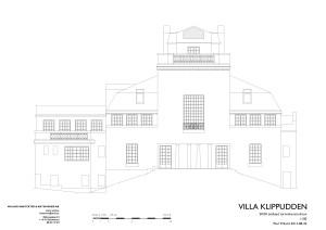 Villa klippudden-Östfasad-tornrekonstr